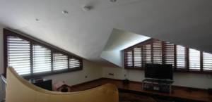Triangular Shaped Motorised Shutters